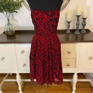 White House Black Market women's strapless dress